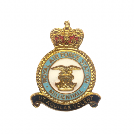 Royal Air Force RAF Station Mildenhall Lapel Badge
